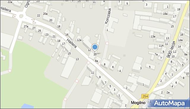 Mogilno, Hallera Józefa, gen., 10, mapa Mogilno