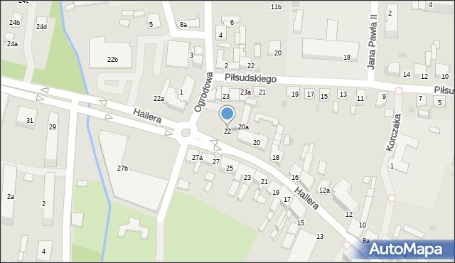 Mogilno, Hallera Józefa, gen., 22, mapa Mogilno