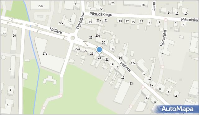 Mogilno, Hallera Józefa, gen., 23, mapa Mogilno