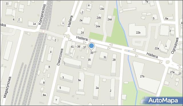 Mogilno, Hallera Józefa, gen., 33, mapa Mogilno