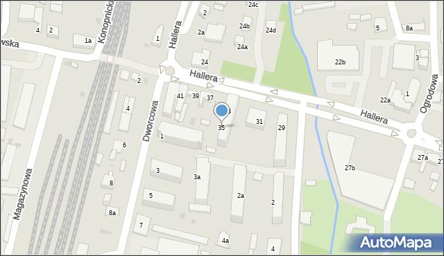 Mogilno, Hallera Józefa, gen., 35, mapa Mogilno