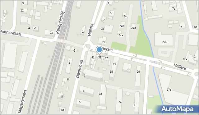 Mogilno, Hallera Józefa, gen., 39, mapa Mogilno