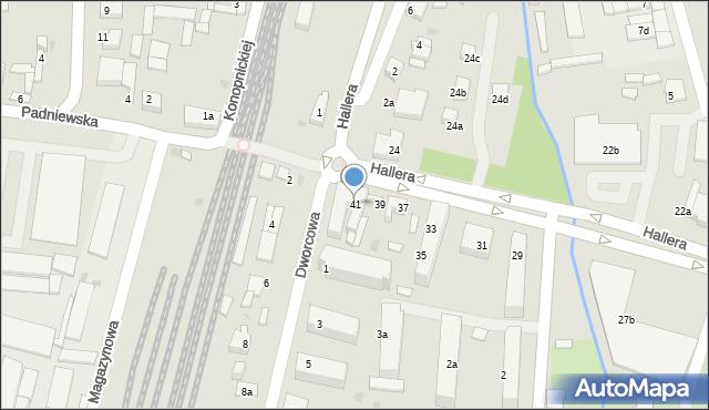 Mogilno, Hallera Józefa, gen., 41, mapa Mogilno