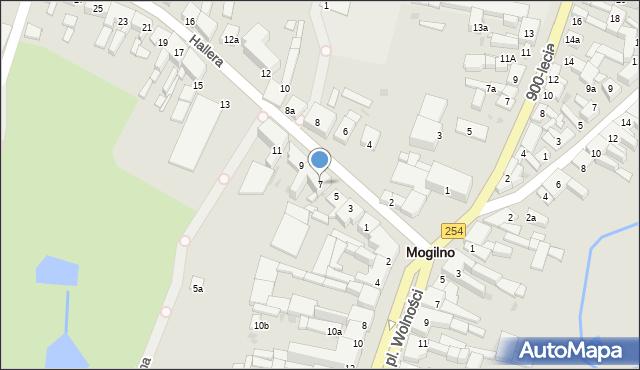 Mogilno, Hallera Józefa, gen., 7, mapa Mogilno
