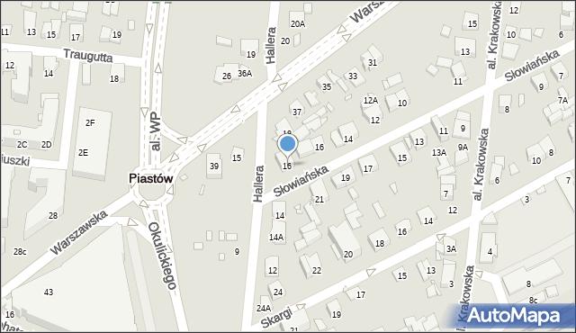 Piastów, Hallera Józefa, gen., 16, mapa Piastów