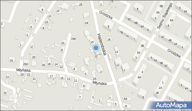 Ruda Śląska, Halembska, 13, mapa Rudy Śląskiej