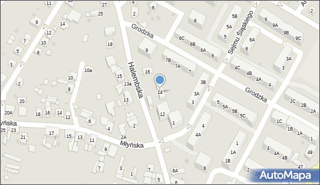 Ruda Śląska, Halembska, 14, mapa Rudy Śląskiej