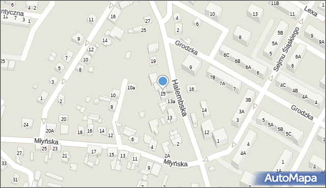 Ruda Śląska, Halembska, 15, mapa Rudy Śląskiej