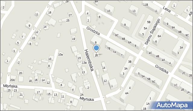 Ruda Śląska, Halembska, 16, mapa Rudy Śląskiej