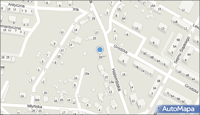 Ruda Śląska, Halembska, 19, mapa Rudy Śląskiej
