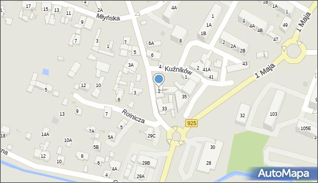 Ruda Śląska, Halembska, 2, mapa Rudy Śląskiej