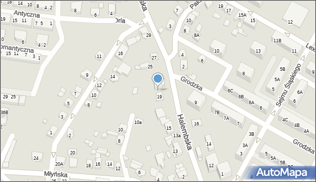 Ruda Śląska, Halembska, 21, mapa Rudy Śląskiej