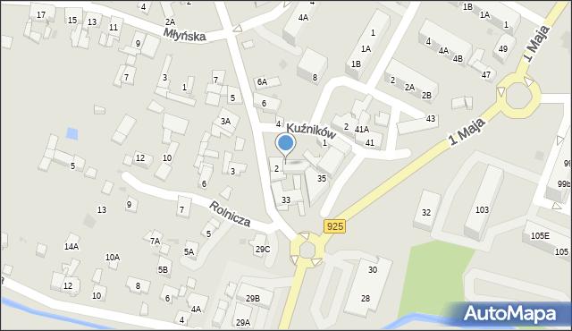 Ruda Śląska, Halembska, 2A, mapa Rudy Śląskiej