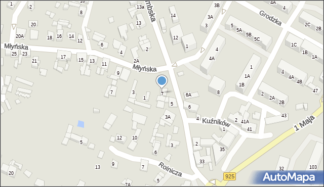 Ruda Śląska, Halembska, 7, mapa Rudy Śląskiej
