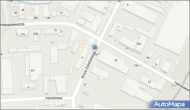 Rzeszów, Hanasiewicza, 105, mapa Rzeszów