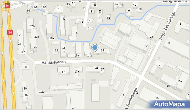 Rzeszów, Hanasiewicza, 14b, mapa Rzeszów