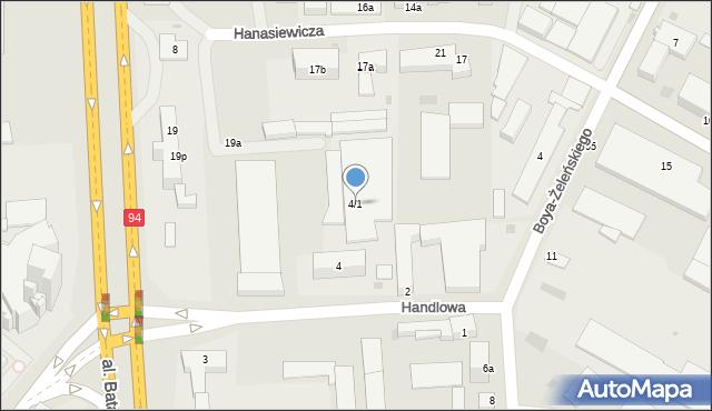 Rzeszów, Handlowa, 1, mapa Rzeszów