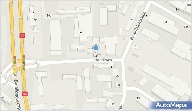 Rzeszów, Handlowa, 2, mapa Rzeszów