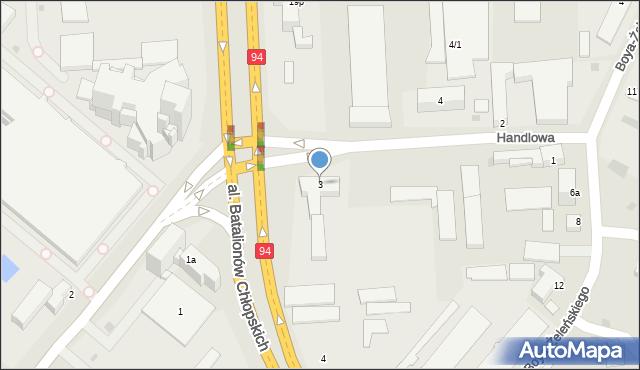 Rzeszów, Handlowa, 3, mapa Rzeszów