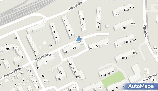 Toruń, Harcerska, 14c, mapa Torunia