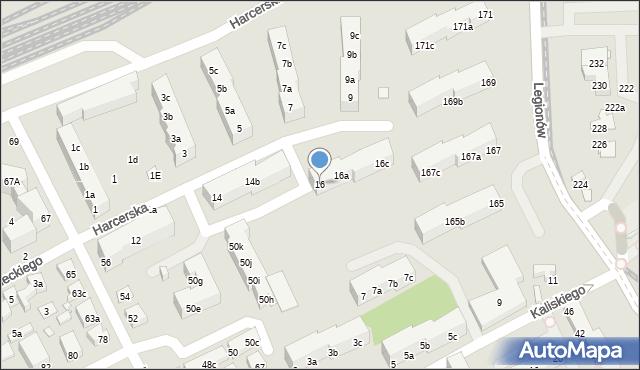 Toruń, Harcerska, 16, mapa Torunia