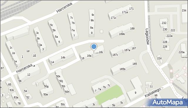 Toruń, Harcerska, 16b, mapa Torunia