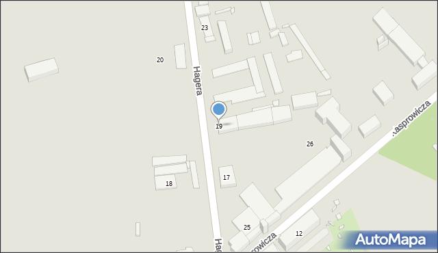 Zabrze, Hagera Bronisława, dr., 19, mapa Zabrza