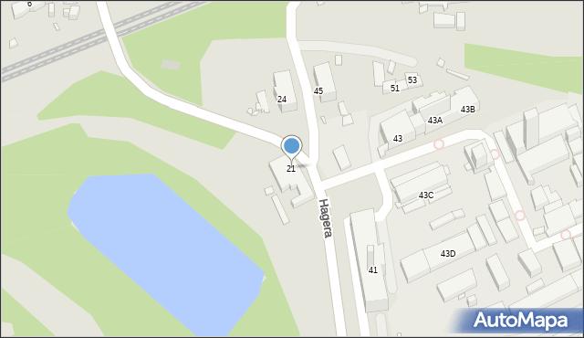 Zabrze, Hagera Bronisława, dr., 21, mapa Zabrza
