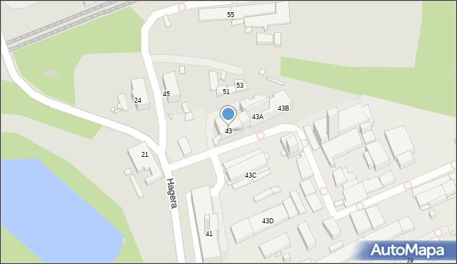 Zabrze, Hagera Bronisława, dr., 43, mapa Zabrza