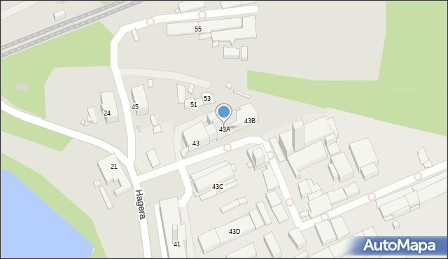 Zabrze, Hagera Bronisława, dr., 43A, mapa Zabrza