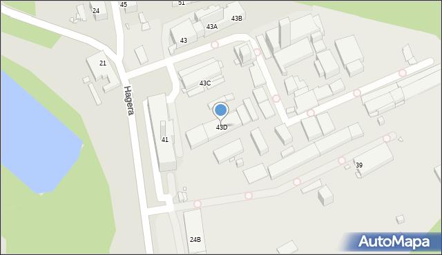 Zabrze, Hagera Bronisława, dr., 43D, mapa Zabrza