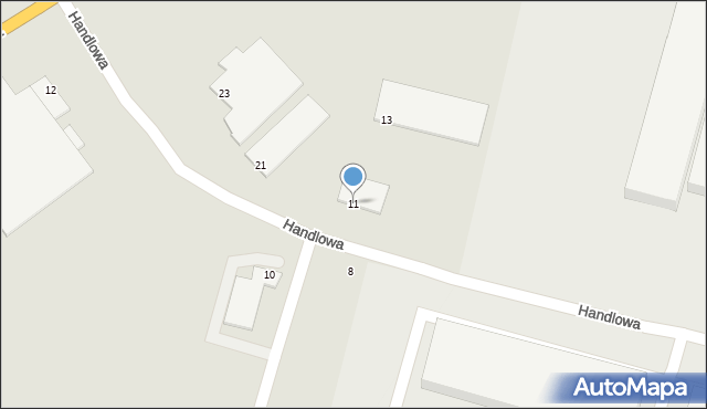 Zabrze, Handlowa, 11, mapa Zabrza