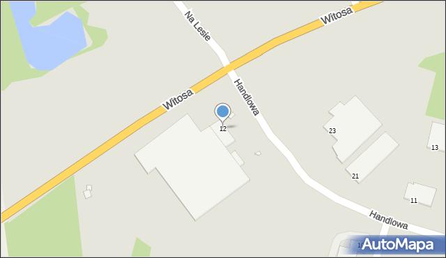 Zabrze, Handlowa, 12, mapa Zabrza