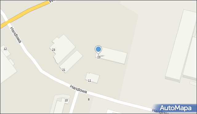Zabrze, Handlowa, 13, mapa Zabrza