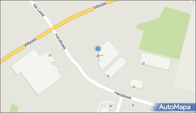 Zabrze, Handlowa, 23, mapa Zabrza
