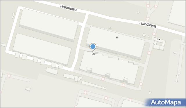 Zabrze, Handlowa, 26, mapa Zabrza