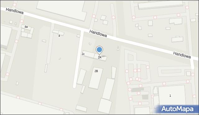 Zabrze, Handlowa, 2A, mapa Zabrza