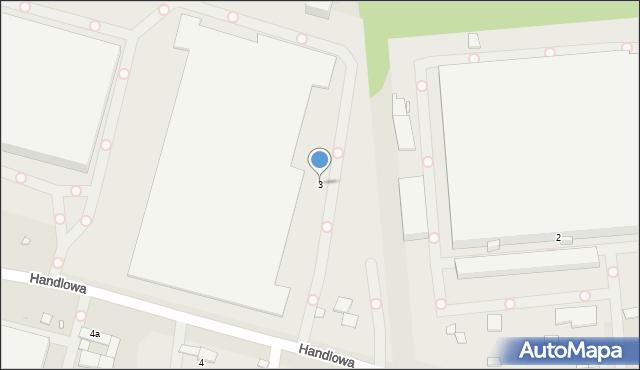 Zabrze, Handlowa, 3, mapa Zabrza