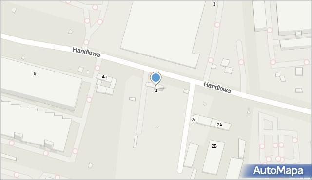 Zabrze, Handlowa, 4, mapa Zabrza