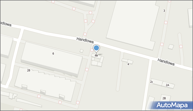 Zabrze, Handlowa, 4a, mapa Zabrza