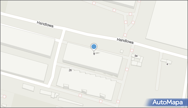 Zabrze, Handlowa, 6, mapa Zabrza