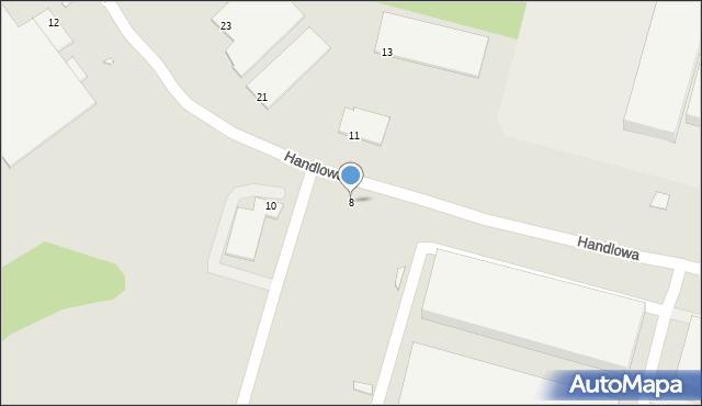 Zabrze, Handlowa, 8, mapa Zabrza