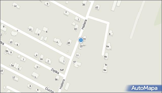 Zabrze, Hallera Józefa, gen., 13, mapa Zabrza