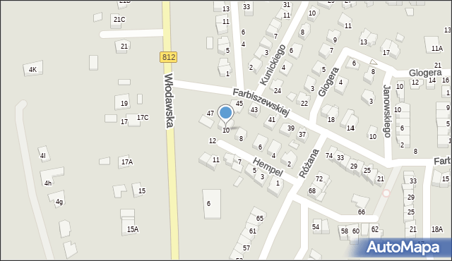 Chełm, Hempel Marii, 10, mapa Chełma