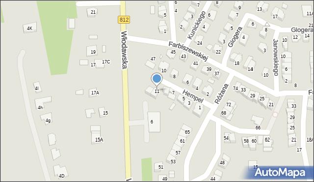 Chełm, Hempel Marii, 11, mapa Chełma