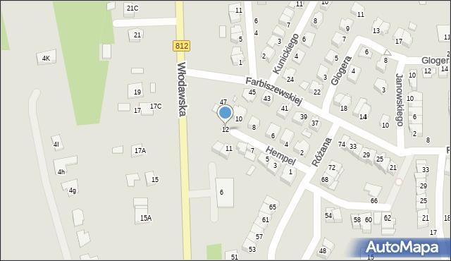 Chełm, Hempel Marii, 12, mapa Chełma