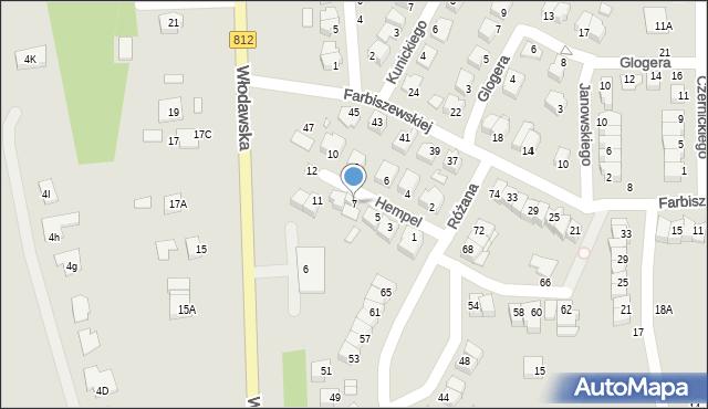 Chełm, Hempel Marii, 7, mapa Chełma