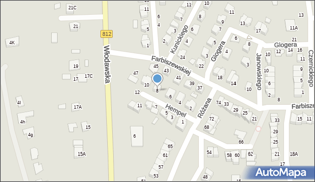 Chełm, Hempel Marii, 8, mapa Chełma