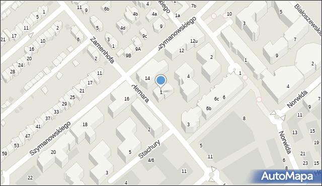 Gdańsk, Hemara Mariana, 1, mapa Gdańska