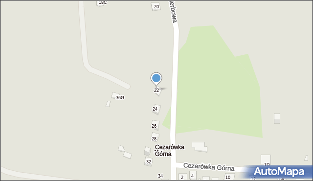 Jaworzno, Herbowa, 22, mapa Jaworzno